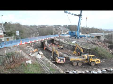 Demolition and reconstruction of Cardiff Road bridge