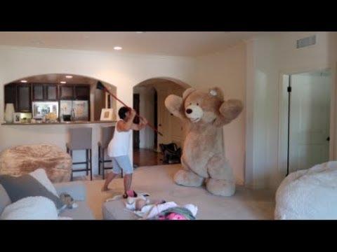 Video HUGE TEDDY BEAR PRANK ON GRANDMA!!! download in MP3, 3GP, MP4, WEBM, AVI, FLV January 2017