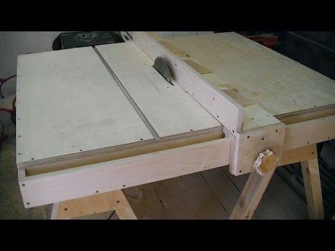Из чего сделать стол для циркулярки своими руками