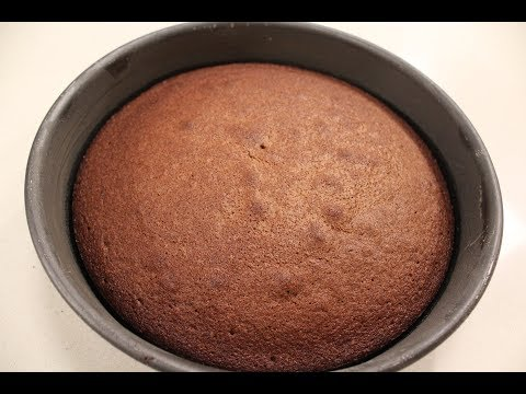 Dark Chocolate Sponge Cake