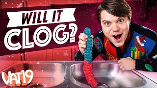 Video Will it Clog? World's Largest Gummy Worm! MP3, 3GP, MP4, WEBM, AVI, FLV Maret 2019
