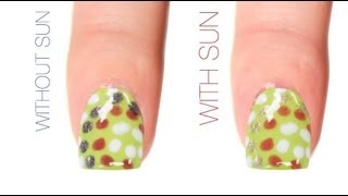 Summer Polka Dot Color-Changing Nail Art Design