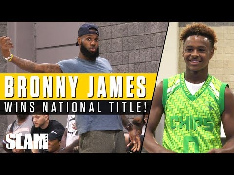 LeBron James helps coach Bronny & Blue Chips to National Championship! USBA Full Highlights 🏆
