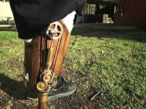 Steampunk Prosthetic Leg