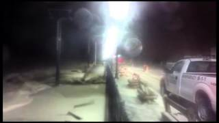 Beach erosion in Seaside Heights, New Jersey - time lapse