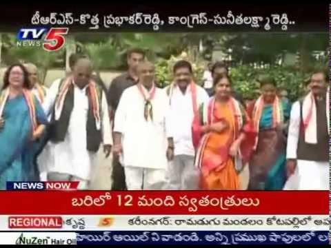 Medak MP Bypolls | Sunitha Lakshma Reddy files Nomination : TV5 News