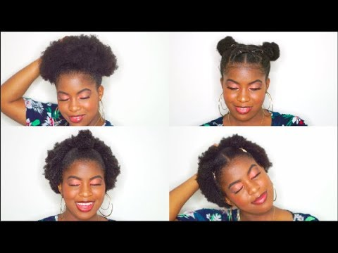 Hairstyles for short hair - NATURAL HAIRSTYLES FOR SHORT 4C HAIR BeautyWithPrincess