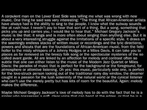 ESP 3028 Michael Gregory Jackson - Clarity online metal music video by MICHAEL GREGORY JACKSON