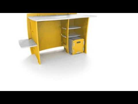 Video New YouTube  video for the 43INCH Kids Desk With File Cart