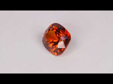 Spessartite Garnet from Madagascar Weighs 4.19 Carats
