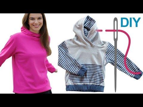 "Sweatshirt / Kapuzenshirt / Shirt / Sweatshirt mit Kapuze ""DAVID"" selber nähen"