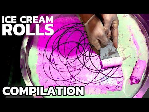 Ice Cream Rolls - Top 10 Compilation | The most satisfying Ice Cream in the World - ASMR Video