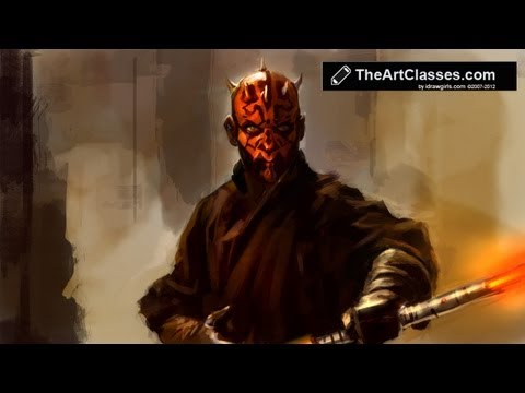 idrawgirls - http://idrawgirls.com/tutorials/2012/04/12/digital-painting-tutorial-darth-maul/ for Brushes download and step by step images. Photoshop digital painting tut...