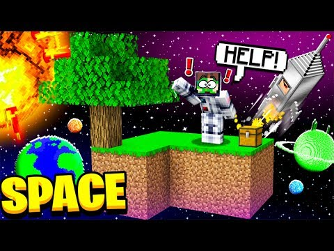 SURVIVING ON A SPACE MINECRAFT ISLAND!