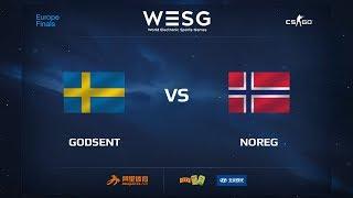 GODSENT vs NOREG, WESG 2017 CS:GO European Qualifier Finals