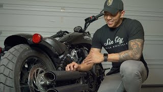 7. NEW! 2019 Indian Scout Bobber | Vance and Hines Twin Slash Slip-Ons (Sound comparison)