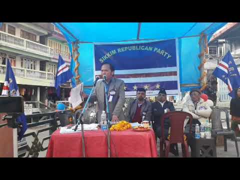 Sikkim Republican Party (SRP) President Mr KB Rai's Speech At Rhenock | 8th Dec 2018 |