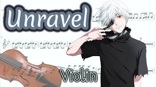 Video Unravel - Tokyo Ghoul Opening Full (Violin) MP3, 3GP, MP4, WEBM, AVI, FLV Juni 2018