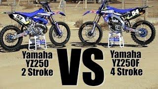 9. Yamaha YZ250 2 Stroke versus Yamaha YZ250F - Motocross Action