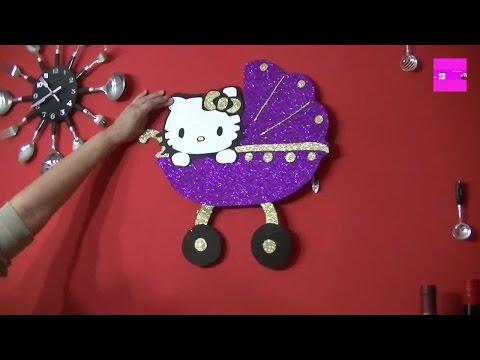 decoracion goma eva carro