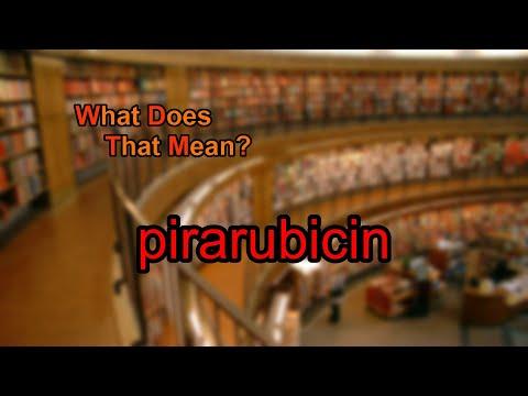What does pirarubicin mean?