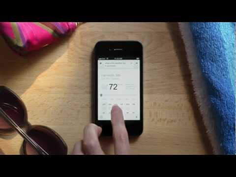 Image of Enhanced voice search on the Google Search App for iOS and Android (Google Promo Video)