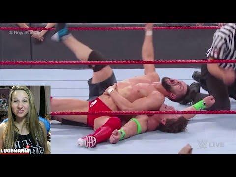 WWE Raw 1/14/19 Fatal 4 Way Main Event to face BROCK LESNAR
