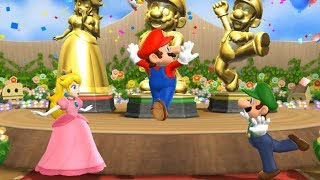 Mario Party 9 Step It Up - 1 vs. Rivals - Team Peach, Mario, Luigi vs Wario| Cartoons Mee