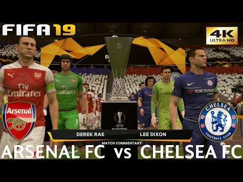 FIFA 19 (PC) Arsenal vs Chelsea | UEFA EUROPA LEAGUE FINAL | 29/5/2019 | 4K 60FPS