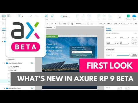 First Look at Axure 9 Beta
