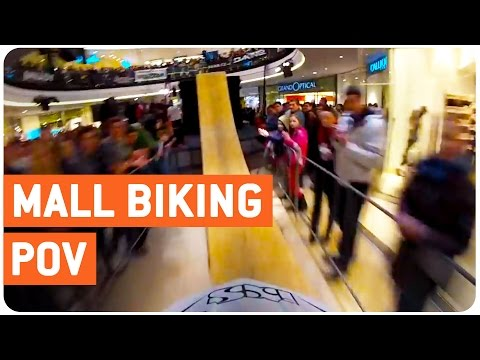 Mall Indoor BMX Run | Insane POV (видео)