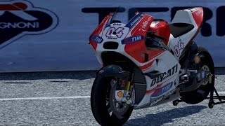 10. Ducati Desmosedici GP15 Andrea Dovizioso 2015 - DUCATI - 90th Anniversary - Test Ride Gameplay (HD)