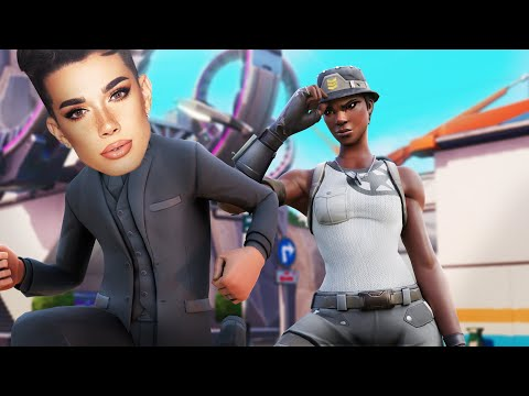 Playing FORTNITE with JAMES CHARLES