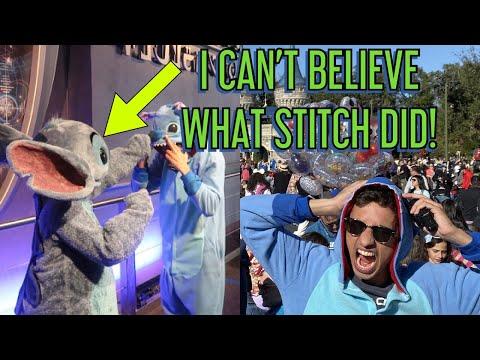 I WORE A STITCH ONESIE TO DISNEY WORLD - Stitch's Reaction was AMAZING