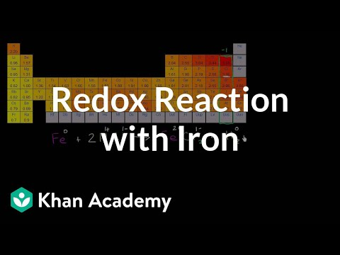 Redox Reaction With Iron Video Khan Academy