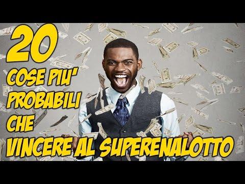 20 cose più probabili che vincere al superenalotto