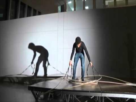 Atelier Blumer - USI AAM, Mise en scène N.4, A.A. 2012-13. Estratto dal video di Marco Cassiano Viditi Vedi Ticino.