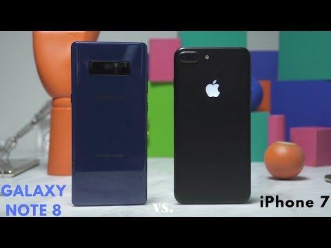 Galaxy Note 8 vs iPhone 7 Plus: Battle Vid