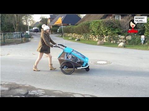 Croozer Kid Plus for 2 Fahrradanhänger/Buggy Bewertung video