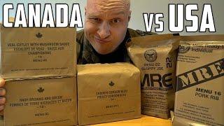 Video US vs Canadian Military MRE (Meal Ready To Eat) Taste Test Challenge! MP3, 3GP, MP4, WEBM, AVI, FLV Maret 2018