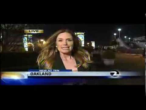 Reporter eats her own snot!