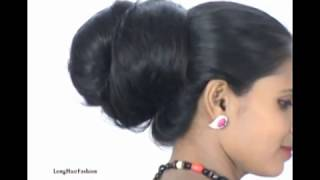 Rekha Long Hair Bun promo, with Her Knee length Thick Hair