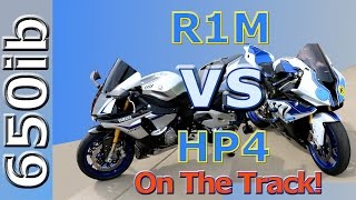 10. Yamaha R1M vs BMW HP4: On the track | Motovlog