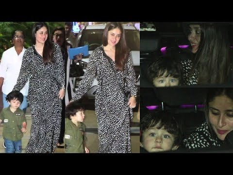 TAIMUR AND KAREENA KAPOOR ATTEND BIRTHDAY PARTY AT SEE PRINCESS
