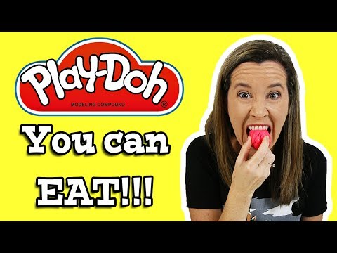 DIY How To Make Play Doh You Can Eat It!!! 😍🍧👅👍 Edible Play Doh (видео)