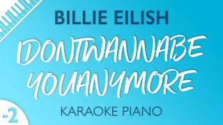 idontwannabeyouanymore (Lower Key - Piano Karaoke Instrumental) Billie Eilish