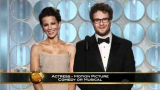 Seth Rogen and Kate Beckinsale Funny Moments - Golden Globes 2012 HQ full download video download mp3 download music download