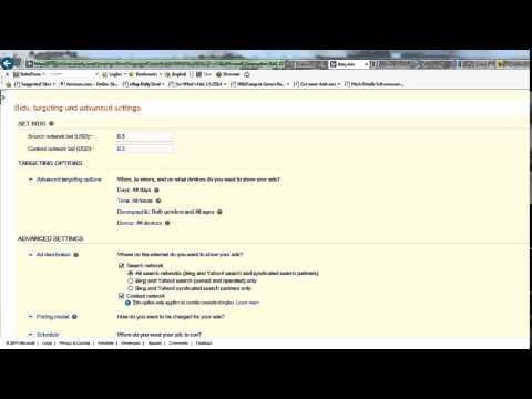 PPC Traffic – Setup a Bing Ads Campaign
