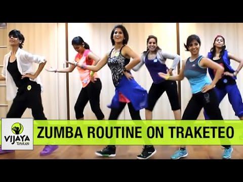 Zumba Routine on Traketeo | Zumba Dance for Beginners | Choreographed by Vijaya Tupurani