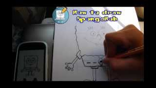 How to draw SpongeBob YouTube video